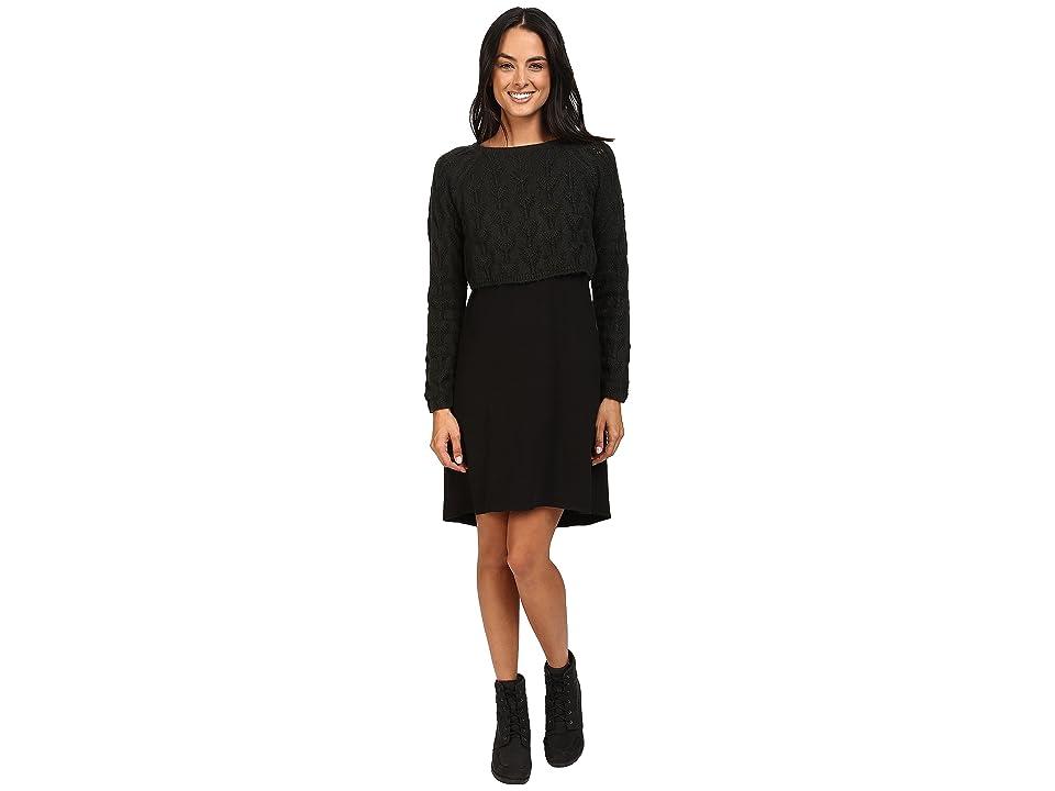 Prana Everly Dress (Black) Women