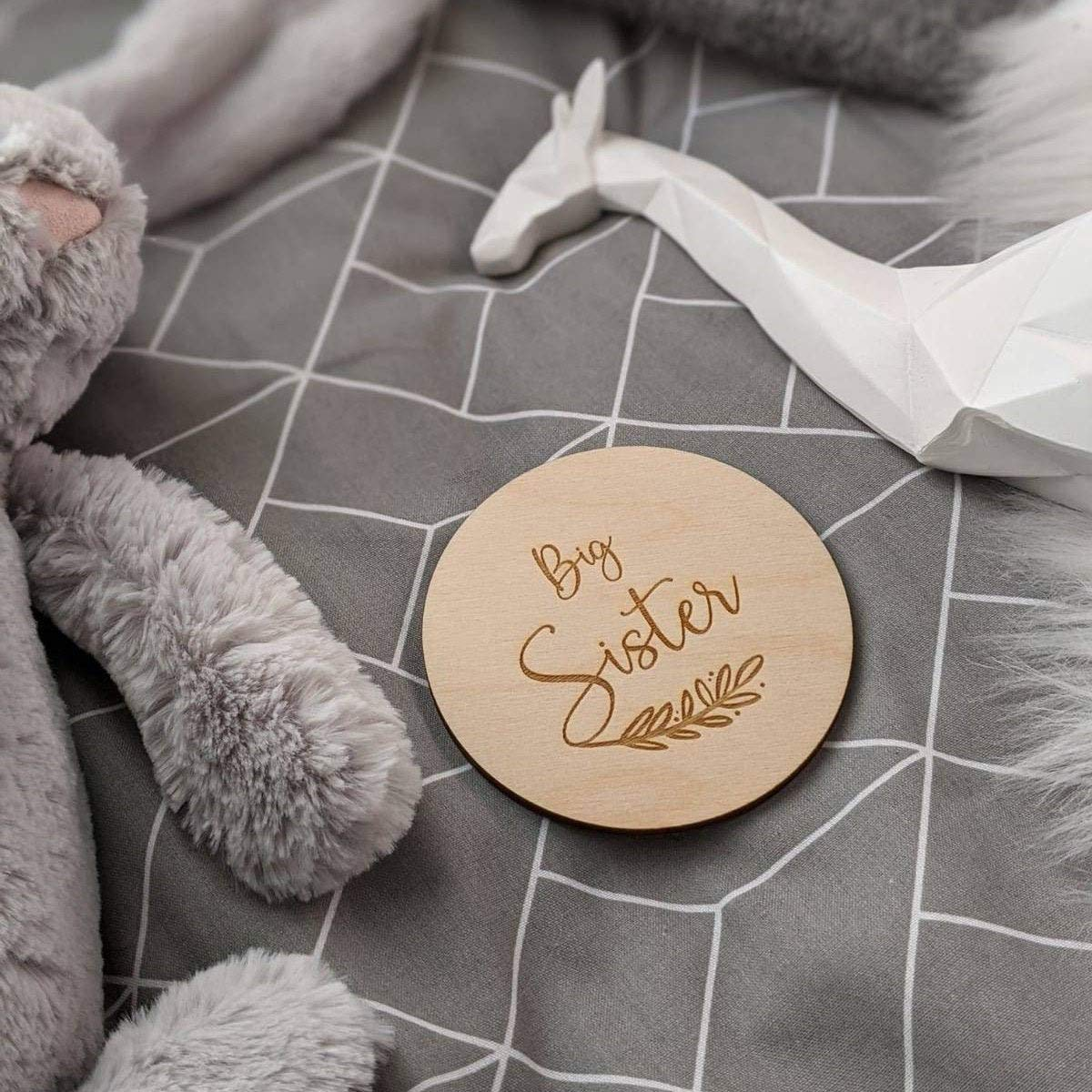 Engraved Wooden Name Sign Big Cheap Baby Engrave Announcement Sister Popular products
