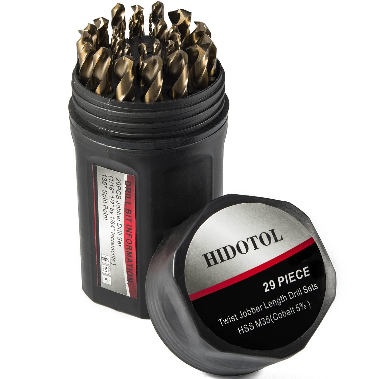 HIDOTOL Cobalt Drill Bit Set 29 PCS Speed Popular popular Twist - Steel High Max 85% OFF M35