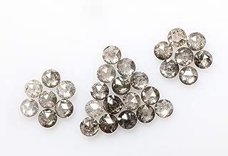 1.11 ct 2.0 mm Natural Loose Diamond Salt and Pepper Black Color 29pcs Beautiful Round Rose Cut Diamond R4015