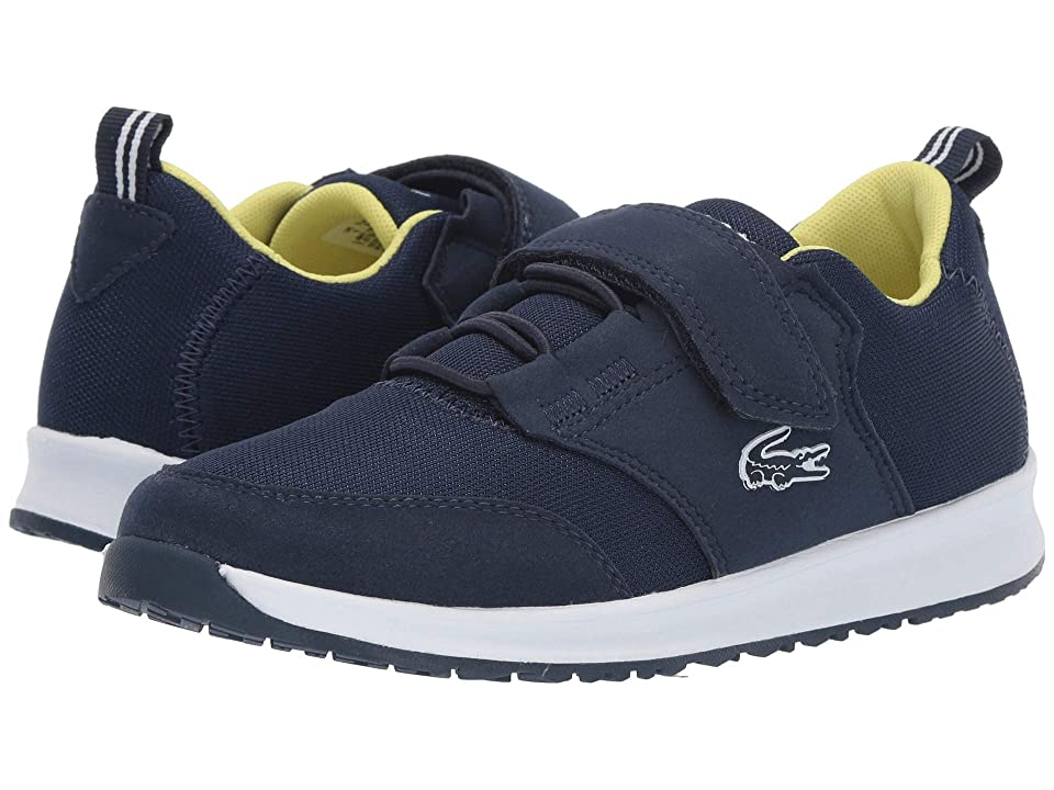 Lacoste Kids L.ight (Little Kid) (Navy/White 1) Kid