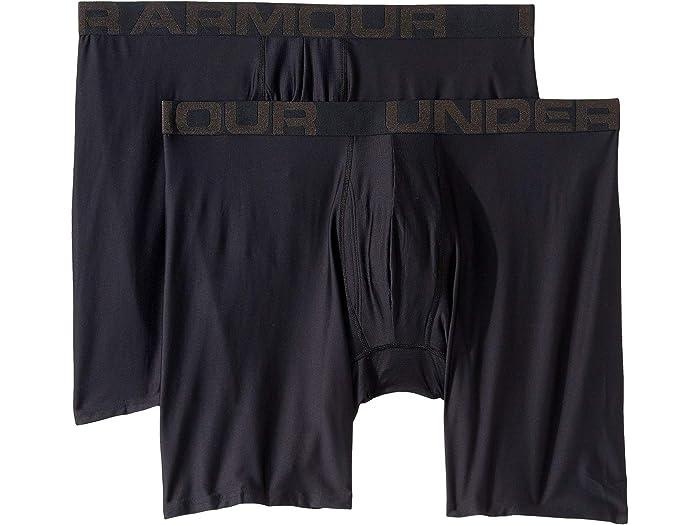 2 Pack Under Armour Mens Tech 3 Boxerjock Boxer Briefs
