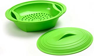 norpro silicone steamer with insert green