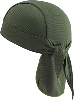 TEFITI Doo Rag Bandana Cycling Skull Cap Quickly Dry Sports Pirate Headwear Motorcycle Under Helmet for Men