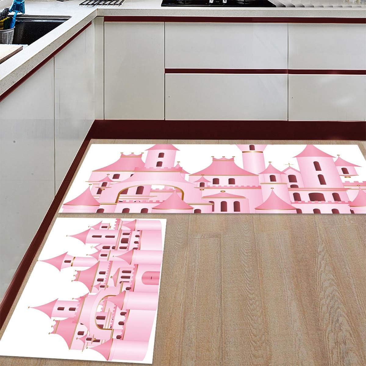 Kitchen Rug Set 2 Pieces Non NEW before Ranking TOP12 selling Mat Slip Cartoon Floor Vint