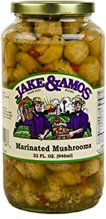 Jake & Amos Marinated Mushrooms, 32 Oz. Jar