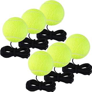 Aodaer 6 Pack Tennis Practice Balls Tennis Training Ball Self Practice Trainer Tool for Tennis Trainer