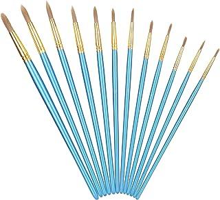 Beginner Paint Brush, Strong Wooden Penholder Aluminum Tube Nylon Wool Brushes, Painting Brushes, Easy To Maintain for Pro...