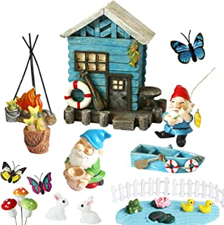 BangBangDa Miniature Fairy Garden Gnomes - Small Gnome Figurines & Accessories - Gnome House for Outdoor or Indoor Garden ...