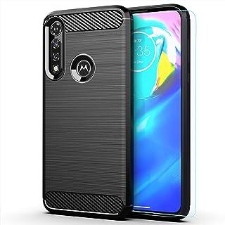 Moto G Power case,Motorola G Power case,with HD Screen Protector,MAIKEZI Soft TPU Slim Fashion Non-Slip Protective Phone Case Cover for Motorola Moto G Power 2020(Black Brushed TPU)