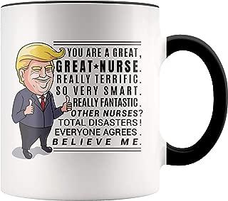 YouNique Designs Nurse Mug, 11 Ounces, Funny Trump Coffee Mugs, Registered Nurse Cup, Nursing School Graduation
