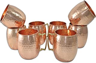 Figo Inc Handmade Pure Copper Hammered Moscow Mule Mug (8)