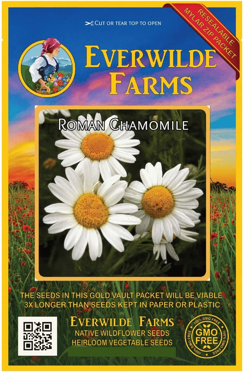 Everwilde Farms Max 47% OFF - security 1 Oz Roman Gold Chamomile Wildflower Seeds V