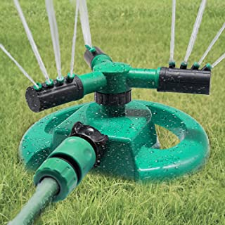 Deamos Garden Sprinkler, Automatic 360 Rotating Lawn Sprinkler, Large Area Coverage Water Sprinklers for Lawns and Garden...