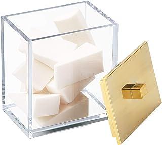 iDesign Gold InterDesign Clarity Soap Dispenser Pump for Kitchen, Bathroom Vanities-Clear/Brushed 41489