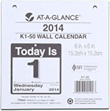 AT-A-GLANCE 2014 Today Is Daily Wall Calendar Refill for K1-00, 6 x 6 Inches (K1-50)