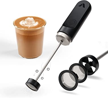 Subminimal NanoFoamer, Handheld Milk Foamer, Velvety Microfoamed Milk for Barista-Style Coffee, Battery Powered Milk Frother