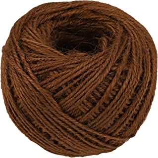 328 Feet Jute Twine Strong Cord Thick Rope String for DIY Art Craft Gift Wrapping Home Garden Deco (Coffee)
