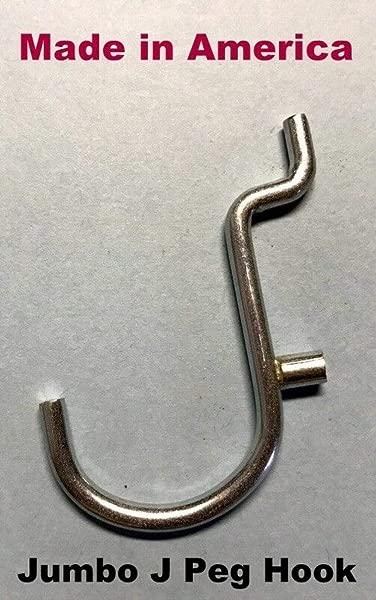 Hillman Brand 50 Pack 1 Jumbo J Metal Peg Garage Hanger Hooks 1 8 To 1 4 Inch Pegboard