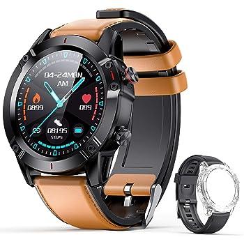 """AGPTEK Smartwatch fitness watch Uomo Donna Orologio Fitness con Cinturino di Ricambio Touchscreen 1.3"""" Cardiofrequenzimetro da Polso Contapassi Activity Tracker Impermeabile IP68 (G20, nero)"""