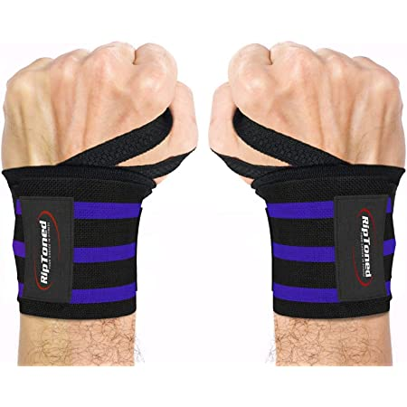 Bodybuilding Strength Training ~ Men /& Women Wrist Protector for Weightlifting Powerlifting RitFit Lifting Straps MMA
