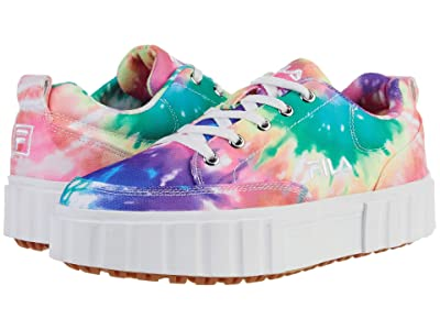 Fila Sandblast Low Tie-Dye (Multi/White/White) Women
