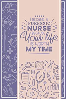 Forensic Nurse | Notebook, Password Keeper & Address Logbook: A Funny Multi-purpose Journal with Blank Lined, Password and...
