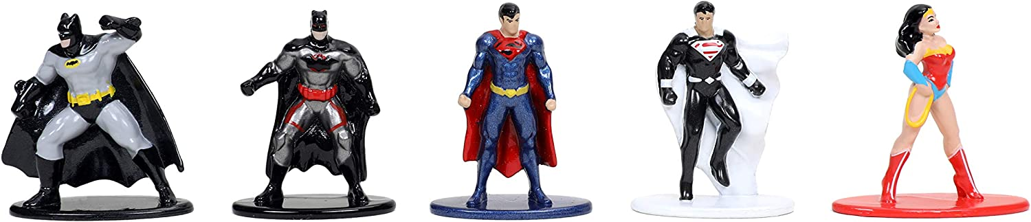 84409 Toys for Kids and Adults Multi-Color Jada Toys DC Comics 1.65 Die-cast Metal Collectible Figures 20-Pack Wave 1