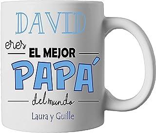 Kembilove Taza de Café Padre Eres el Mejor Papá – Taza de Desayuno con nombre Personalizado – Tazas de Café y Té para Papá...