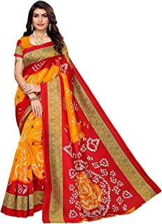 JANKIT DESIGNER Art Silk Saree with Blouse Piece