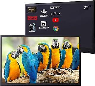Soulaca Waterproof Mirror TV, 22inch Smart Magic Bathroom TV IP66 Waterproof with Integrated HDTV(ATSC) Tuner and Built-in...