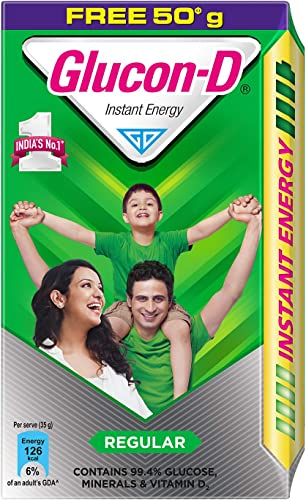 Glucon D Instant Energy Health Drink Regular 450gm Refill Extra 50gm Free