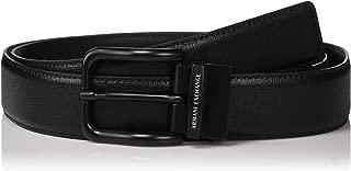 Armani Exchange Men's Removable Buckle Belt Gift Set, Black, One Size