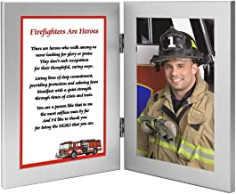 Firefighter Gift – Hero Poem in Frame Honoring Your Favorite Fireman - Add Photo