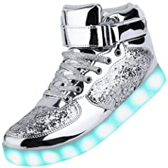 cf564c09ca14 Odema Unisex LED Shoes High Top Breathable Sneakers Light Up ..