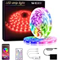 32.8ft Smart WiFi RGB Color Changing Waterproof LED Strip Lights