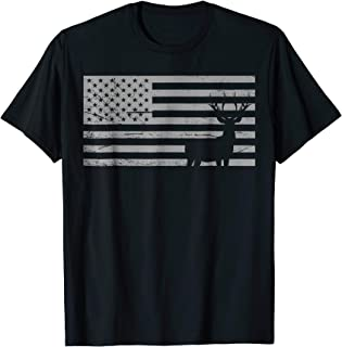 Deer Hunting And America Flag T Shirt Hunting Lover Gift
