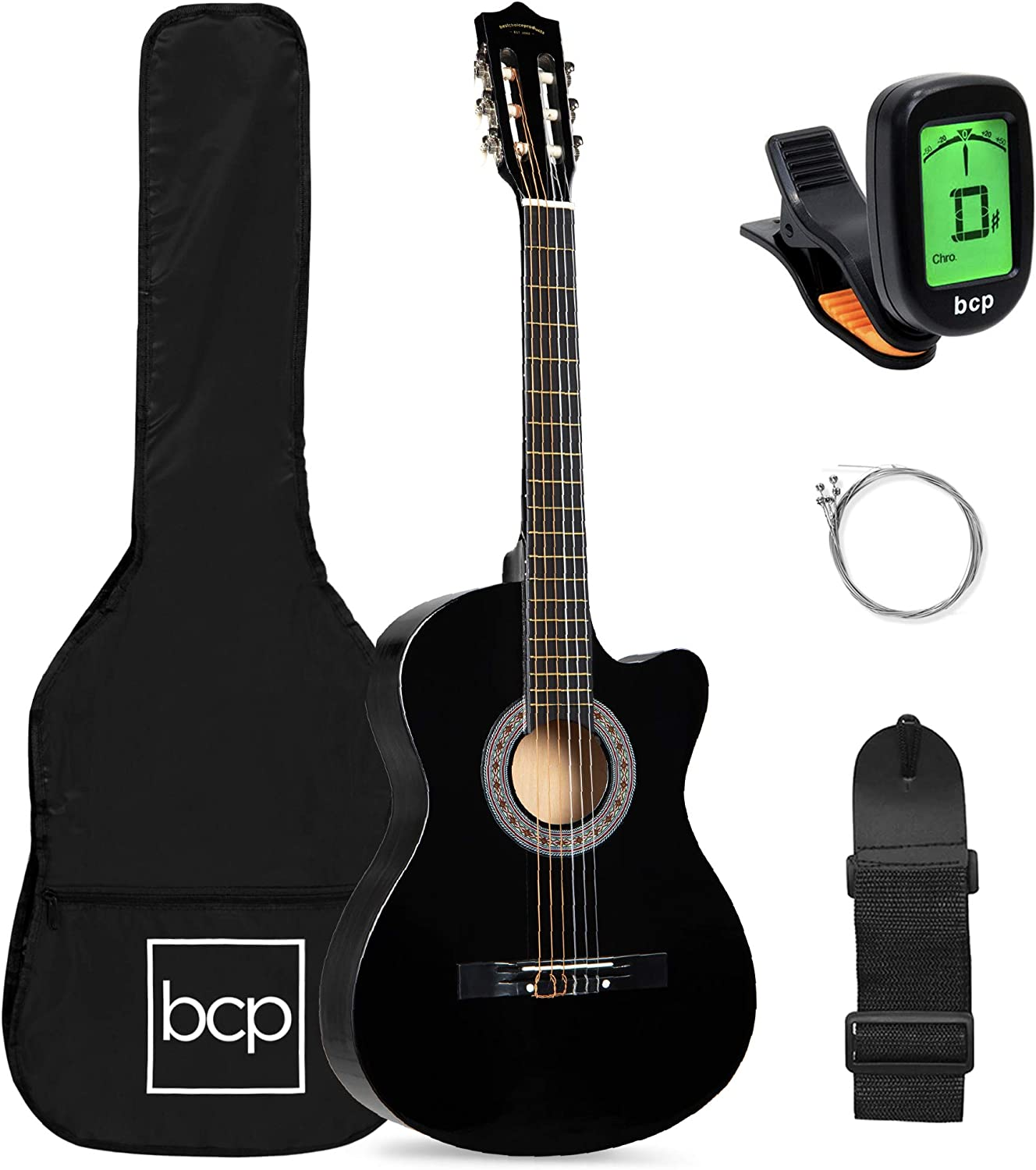 Best Choice Products Beginner 70% OFF Outlet Acoustic 38in Starter store Guitar Set w