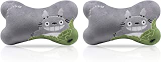 FINEX Totoro Seat Head Seat Neck Rest Cushion with Headrest Strap -Set of 2- (Gray)