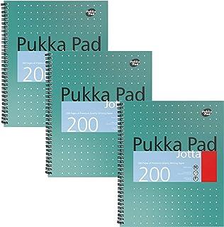 Pukka Pad Jotta Notepad U.S. Letter Size 3-Pack 100 Premium 80 GSM Sheets Twin Binding Green-Metallic