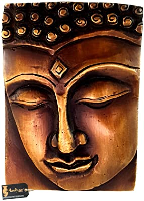 Two Moustaches Calm Buddha Brass Decor Wall Hanging