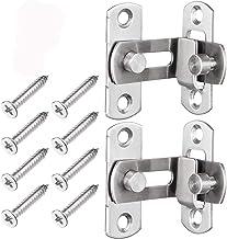 2 stuks roestvrij stalen flipdeursloten voor deuren, ramen, meubels, hardware 90° Lock