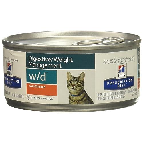 Hills Diet w/d Feline Low Fat-Glucose Management Gastrointestinal With Chicken (24