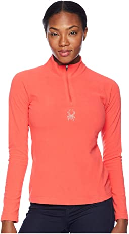 Shimmer Zip T-Neck Top