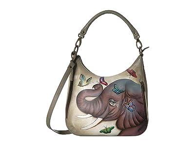Anuschka Handbags Convertible Slim Hobo with Crossbody Strap 662 (Gentle Giant) Handbags