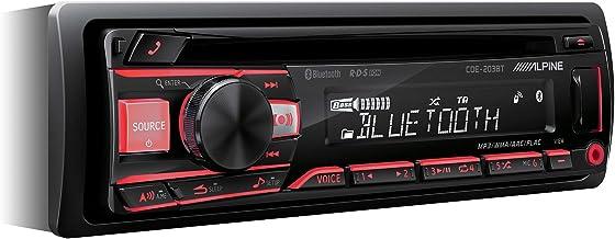 Alpine CDE-203BT Radio de Coche, Negro