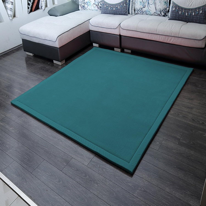 Solid color coral velvet mat [modern] Simple Coral velvet padded mat Bedroom Bedside mats-F 80x200cm(31x79inch)