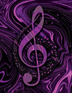Music Songwriting Journal - Blank Sheet Music - Manuscript Paper for Songwriters and Musicians - Liquid Marble Series Purple Pink and Black: Composition Notebook for Composing Music