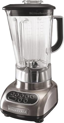new arrival KitchenAid online KSB580NK Custom Metallic 5-Speed Blender, Brushed 2021 Nickel outlet online sale