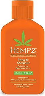 Hempz Yuzu & Starfruit Daily Herbal Moisturizer with SPF 30, 2.25 Ounce